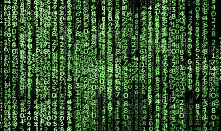 Zahlen in der Matrix